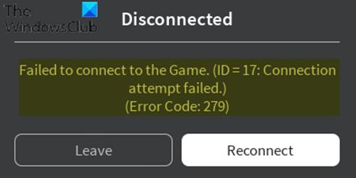 Códigos de error de Roblox 279, 6, 610