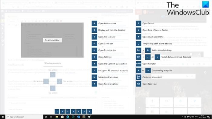 Habilitar y usar la Guía de atajos de teclas de Windows usando PowerToys
