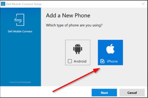 Aplicación Dell Mobile Connect