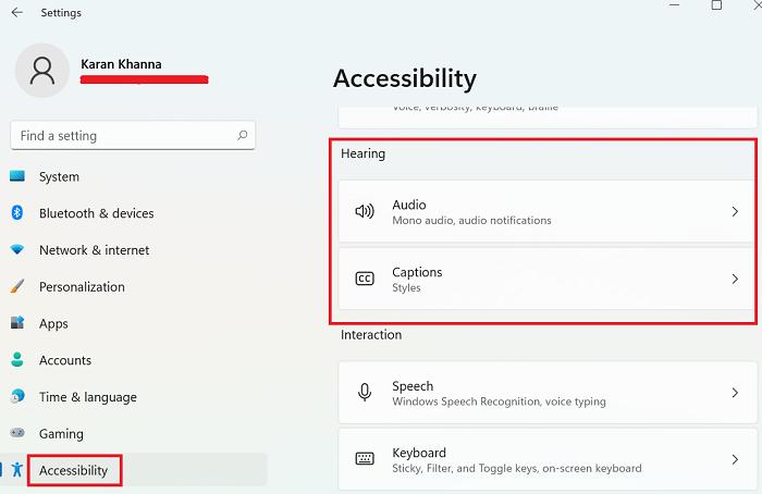 Configuración y características de accesibilidad de Windows 11