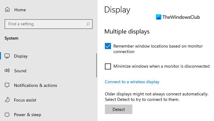 Deje de minimizar Windows cuando se desconecta un monitor en Windows 11