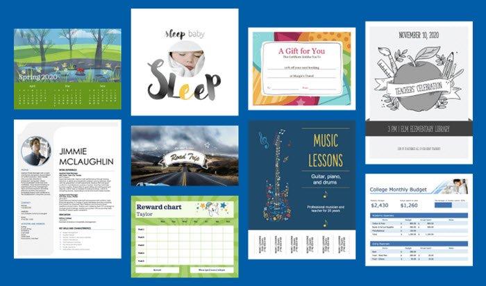 Plantillas de Word, Excel, PowerPoint, Access, Visio