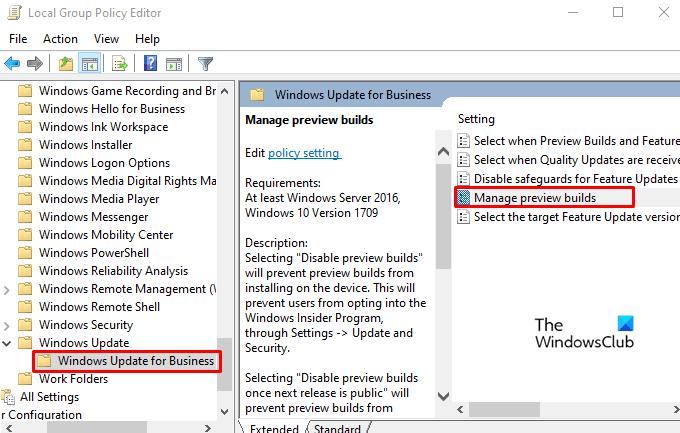 Cómo deshabilitar la configuración del programa Windows Insider en Windows 10
