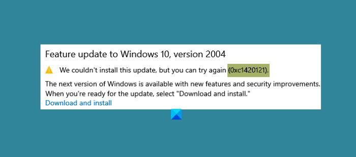 Error 0xc1420121, no se pudo instalar la actualización de funciones de Windows 10