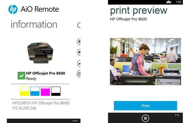 Aplicación de impresión HP 1