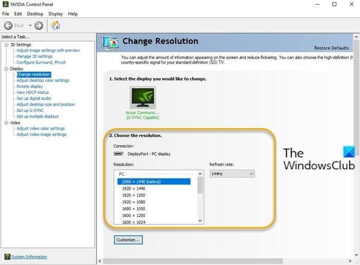 La opción de 144 hz no se muestra en las opciones de pantalla de Windows 10: tarjeta gráfica NVIDIA