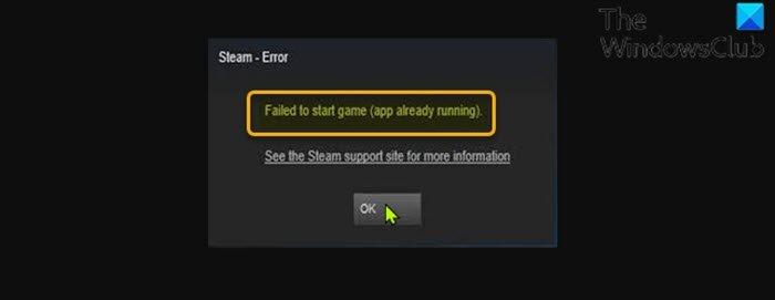 No se pudo iniciar el juego (la aplicación ya se está ejecutando) - Error de Steam