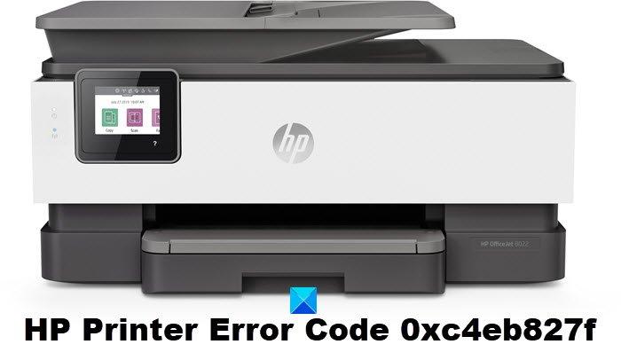Código de error de impresora HP 0xc4eb827f