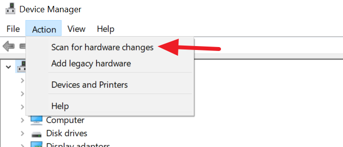 Buscar cambios de hardware